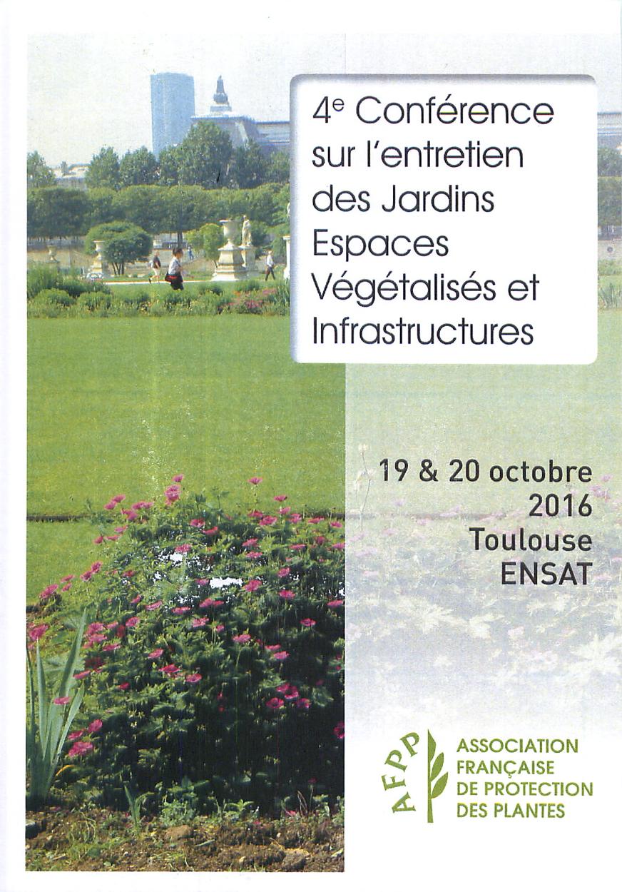 4e conf rence sur l entretien des jardins espaces for Entretien des jardins et espaces verts